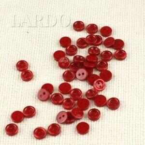 Пуговица пластик ∅ 0,8 см, красивая красная