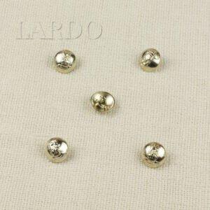 Пуговица металл ∅ 1,7 см, золото клубная