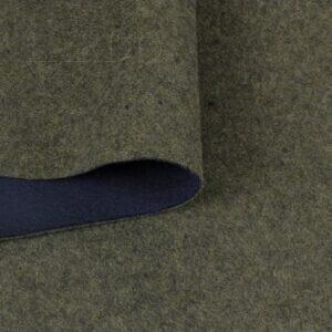 Трикотаж/лоден 2-х сторонний сине-зелёный шерсть с вискозой