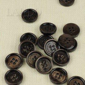 Пуговица MASSIMO REBECCHI пластик ∅ 2,4 см, коричневая