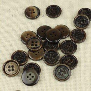 Пуговица MASSIMO REBECCHI пластик ∅ 2,2 см, коричневая