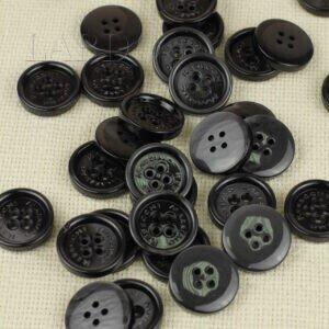 Пуговица MASSIMO REBECCHI пластик ∅ 2,4 см, тёмно-серая