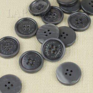 Пуговица MASSIMO REBECCHI пластик ∅ 2,9 см, серая