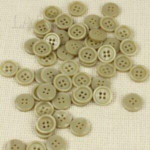 Пуговица MASSIMO REBECCHI пластик ∅ 1,5 см, бежевая