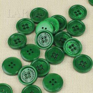 Пуговица MASSIMO REBECCHI пластик ∅ 2,4 см, зелёная