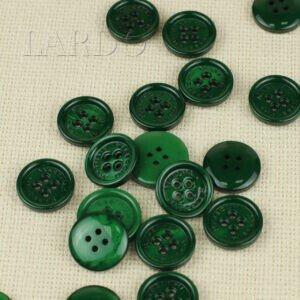 Пуговица MASSIMO REBECCHI пластик ∅ 2,2 см, тёмно-зеленая