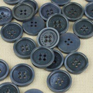 Пуговица MASSIMO REBECCHI пластик ∅ 2,9 см, серо-синяя
