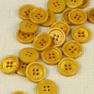Пуговица MASSIMO REBECCHI пластик ∅ 2,4 см, тёмно-жёлтый