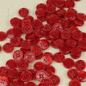 Пуговица MASSIMO REBECCHI пластик ∅ 1,5 см, красная