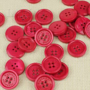 Пуговица MASSIMO REBECCHI пластик ∅ 2,4 см, малиновая