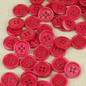 Пуговица MASSIMO REBECCHI пластик ∅ 2,2 см, малиновая