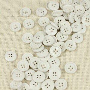 Пуговица MASSIMO REBECCHI пластик ∅ 1,5 см, белая