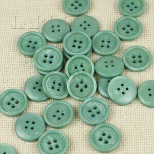 Пуговица MASSIMO REBECCHI пластик ∅ 2,2 см, бирюзовая