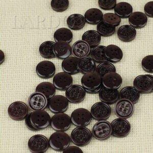 Пуговица MASSIMO REBECCHI пластик ∅ 1,5 см, тёмно-коричневая