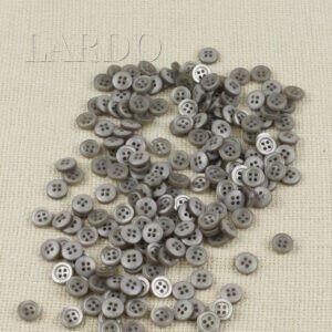 Пуговица пластик ∅ 1,0 см, серая