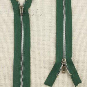 Молния неразъёмная, однозамковая, 18 см, №4, зелёная