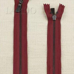 Молния UNIZIP неразъёмная, однозамковая, 20 см, №4, бордовая