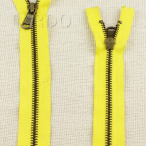 Молния YKK неразъёмная, однозамковая, 20 см, №5, жёлтая