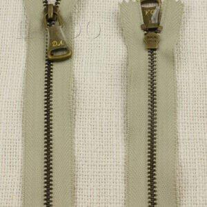Молния SKA D.A. неразъёмная, однозамковая, 15 см, №4, серая