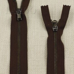 Молния MRS неразъёмная, однозамковая, 15 см, №4, коричневая