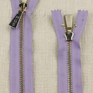 Молния MGS неразъёмная, однозамковая, 15 см, №5, сиреневая