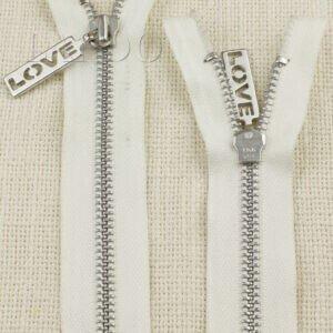 Молния YKK LOVE неразъёмная, однозамковая, 15 см, №5, белая