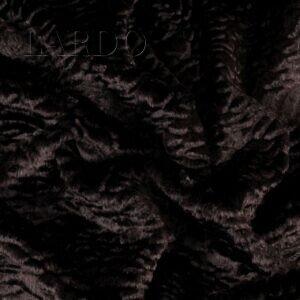 Эко мех каракуль вискоза коричневый с бордовым оттенком