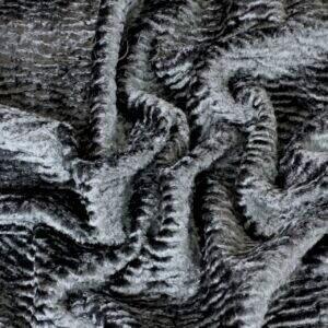 Эко мех каракуль тёмно-серый вискоза