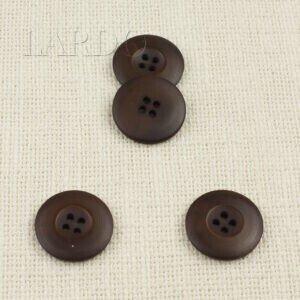 Пуговица пластик ∅ 2,7 см, тёмно-коричневая