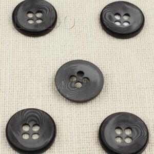 Пуговица пластик ∅ 3,2 см, чёрно-серая
