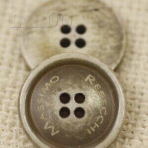 Пуговица перламутр MASSIMO REBECCHI ∅ 2,3 см серо-бежевая