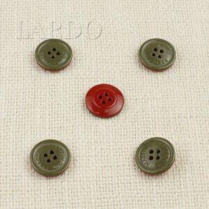 Пуговица пластик MASSIMO REBECCHI ∅ 2,0 см, красно-оливковая