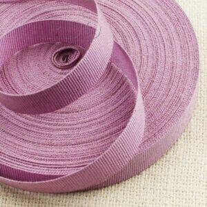 Репсовая лента розово-сиреневого цвета шир. 1,6 см