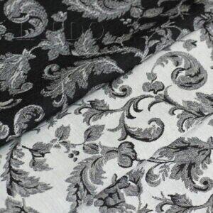 Жаккард 2-х сторонний чёрно-белый