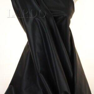 Атлас стретч костюмный чёрный