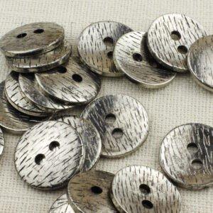 Пуговица пластик ∅ 3,5 см, никель-серебро