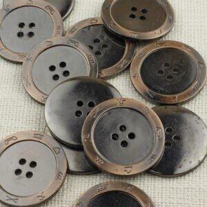 Пуговица пластик ∅ 4,5 см, медь