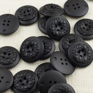 Пуговица пластик ∅ 3,4 см, чёрная