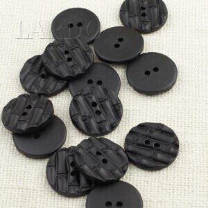 Пуговица пластик ∅ 3 см, чёрная