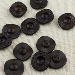 Пуговица пчелиные соты пластик ∅ 3,7 см, чёрная