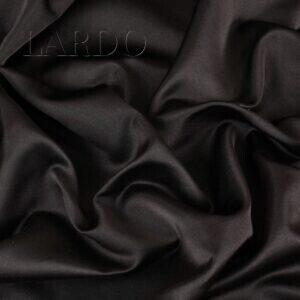 Тафта-атлас шёлковая тёмно-коричневая