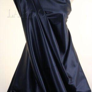 Атлас шёлковый тёмно-синий