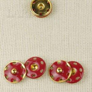 Кнопка красная/золотая ∅ 2,5 см