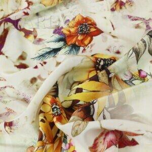 Крепдешин цветочный принт