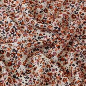 Крепдешин шёлковый мелкий цветочек