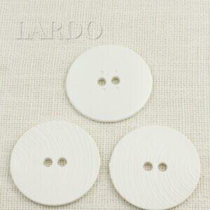 Пуговица пластик ∅ 6,2 см, белая