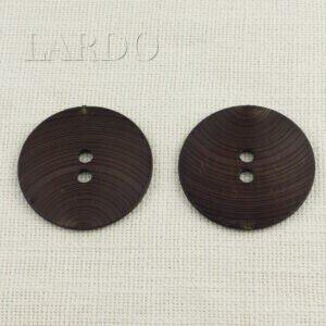 Пуговица пластик ∅ 6,2 см, коричневая