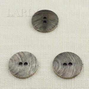 Пуговица пластик ∅ 3,8 см, чернённый никель