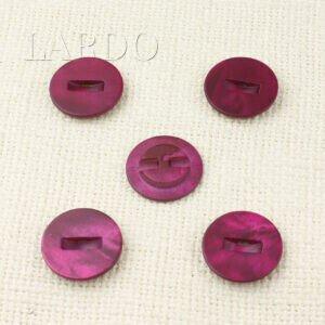 Пуговица перламутр ∅ 2,2 см, цвета фуксии