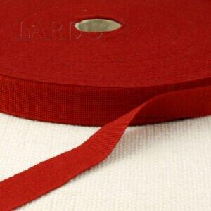Репсовая лента красная шир. 2 см